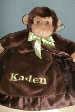 Monkey Jungle Animal Snuggler Personalized Security Blanket Baby Blankie