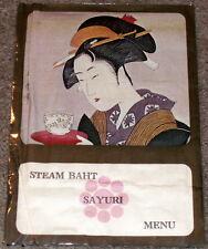 Vintage 60s/70's STEAM BAHT-SAYURI RESTAURANT Menu-THAI-JAPANESE-Thai Ito Co Ltd