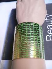 61500db1e0ab Nuevo de Mujer Metal Dorado Ancho Pulsera Brazalete Puño Fashion Jewelry  Verde
