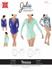 Jalie 3891 Tessa Long-Sleeve Skating Dress & Leotard Sewing Pattern Women Girls