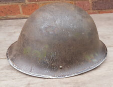 Post WW2 Issued British Turtle Helmet With Liner Reenactment