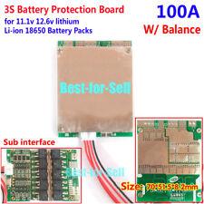 3S 11.1V 100A w/Balance Li-ion Lithium 18650 Battery BMS PCB Protection Board