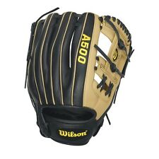 "Wilson A500 Infield Baseball Glove H-Web Age 10-13 11.5"" Rht Black And Tan"