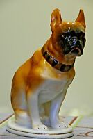 Vintage Soviet porcelain figurine Dog boxer LFZ Lomonosov porcelain USSR