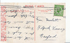 Genealogy Postcard - Family History - Hewlett - Kilpeck Vicarage Hereford BH5406