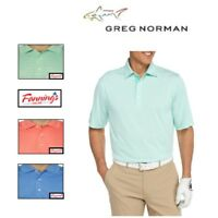 NEW! GREG NORMAN Signature Series Play Dry ML75 STRIPED Golf Polo Shirt! VARIETY