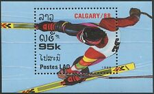 LAOS Bloc N°98** jeux olympiques Calgary 1988, olympic games Sc#848 MNH