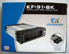 KINGWIN KF-91-BK(Black) Serial ATA Hard Drive Mobile Rack- New, open box