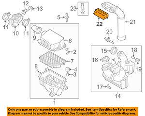 HYUNDAI OEM 14-16 Elantra Air Cleaner Intake-Intake Duct Tube Hose 282133X010