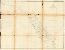 ALASKA COAST. Dixon Entrance to Cape St. Elias. USCGS 1871 old antique map