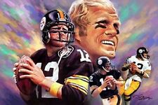 Terry Bradshaw:giclee print on canvas poster painting no autograph  N-095