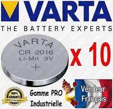 10 piles VARTA Lithium 3V CR2016 BULK DLU 2026 Disp aussi LR03 LR6 CR2032 CR2025