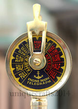"Solid Brass Nautical Ship Engine Room Telegraph 7""Collectible Maritime Gift."