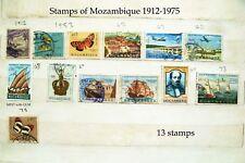 Sellos DE MOZAMBIQUE 1912 - 1975 Estampillas Conmemorativas Diferentes 13 X