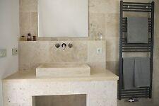 Waschtisch Travertin Light 40x70x10 cm Naturstein Waschbecken Marmor eckig groß