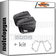 Kappa K22N Paire de Valises Latérales Noires pour Moto - 22L