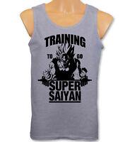 Mens Vest - Training To Go Super Saiyan - Dragon Ball Z Gym Bodybuilding Goku