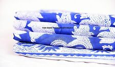 Indian hand block Blue & White Flower quilting fabric dress making cotton 10 yd