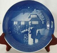 1973 B&G Bing Grondahl CHRISTMAS PLATE Jule After DENMARK Copenhagen Collectible
