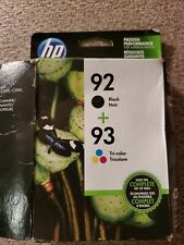 HP 92 Black + 93 Tri-Color Ink Cartridge(Combo-Pack) Sealed Packages