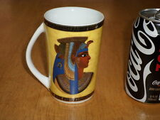 EGYPTIAN  PHARAOH, Porcelain Coffee Cup / Mug, Vintage Egypt Made