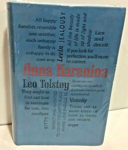 Anna Karenina by Leo Tolstoy Flexibound Word Cloud Classics Series New