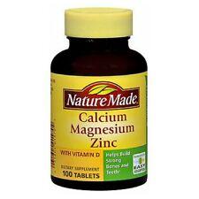 Nature Made Calcium Magnesium Zinc 100 tabs