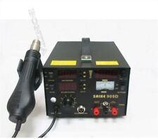 220V With Hot Air Gun Rework Station Smd Soldering Tool Saike 909D 3 In 1