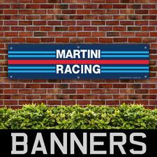 Martini Racing Stripes PVC Banner Garage Workshop Motorsport Sign (BANPN00090)