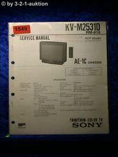 Sony Service Manual KV M2531D (#1549)