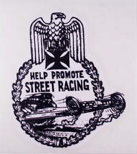 RAT RODHOT ROD  CHOPPER  BOBBER DECAL STICKER HELP PROMOTE STREET RACING