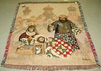 Jim Shore Christmas Nativity Tapestry Afghan Throw