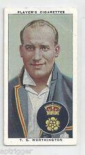 1938 John Player & Sons (32) T. S. WORTHINGTON Derbyshire & England