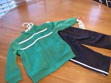 Boy's Baby infant Puma active jacket pants set stripe green navy 24 months $40