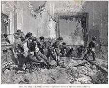 1849:Repubblica Romana:Roma:a Villa Spada Muore Luciano Manara.Risorgimento.1892