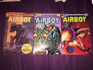 AIRBOY #17,18,19 VF/NM ECLIPSE COMICS LOT RUN (1987)