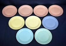 """Vtg TST Taylor Smith Taylor LuRay Pastels 9 Bread and + Butter Plates 6-3/8"""""""