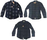 $98 Polo Ralph Lauren Denim & Supply Mens Slim Navy Blue Plaid Button Down Shirt