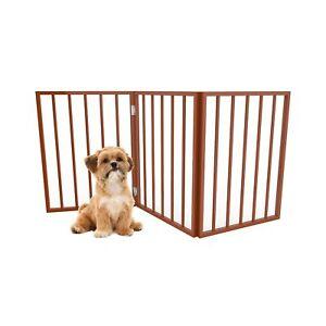 "PETMAKER Wooden Pet Gate 54"" x24"" Mahogany"
