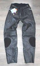 """Black Leather CATLINE Armour Biker Motorcycle Men's Trousers Pants Size W34"""" L31"""