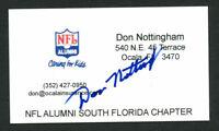 Don Nottingham signed autograph auto NFL Alumni Business Card BC154