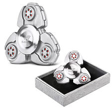 Silver-UFO CKF EDC Hand Fidget Spinner Titanium Alloy Finger Gyroscope Focus Toy