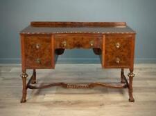 Attractive High Quality Vintage Burr Walnut Dressing Table / Desk