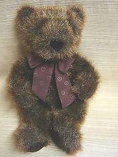 Shaggy Dark Brown Teddy Bear by Plush Factory