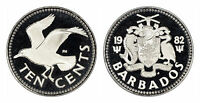 BARBADOS 10 CENTS 1982 (GEM PROOF) *ONLY 843 MINTED!!!*