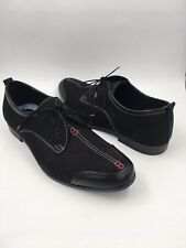 Zapato Schwarz Oxford Schuh mit roten Stitches UK 6.5 EU 40