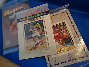 1995-96 TOPPS BASKETBALL - STADIUM CLUB MASTER PHOTOS (2) NBA JUMBO CARDS