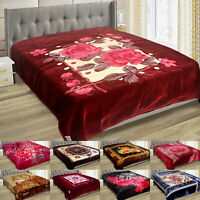 Heavy Weighted Blanket Soft Warm Cozy Bed Throw Double Sided 2 Ply King Size
