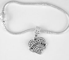 Marines Mom Bracelet Marine Mom Gift Bangle Present Marine charm Bracelet Best