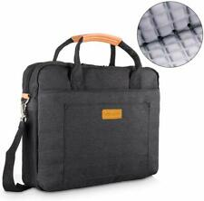Black Laptop Bag 17.3 Shoulder Messenger Handbag Shockproof Briefcase Business